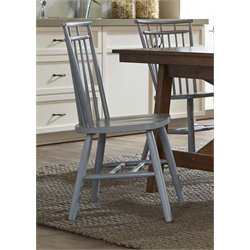 Liberty Furniture Creations II Spindle Back Dining Side Chair in Blue