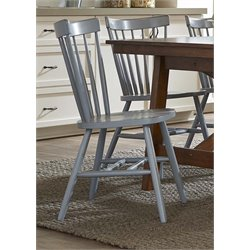 Liberty Furniture Creations II Copenhagen Dining Side Chair in Blue