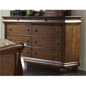 Rustic Traditions 8 Drawer Dresser in Rustic Cherry