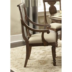 Liberty Furniture Traditions Splat Back Dining Arm Chair in Cherry