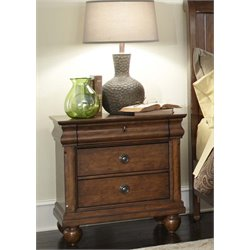 Liberty Furniture Rustic Traditions Nightstand in Rustic Cherry