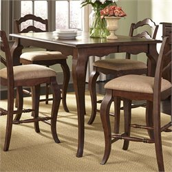 Liberty Furniture Woodland Creek Counter Height Dining Table in Russet
