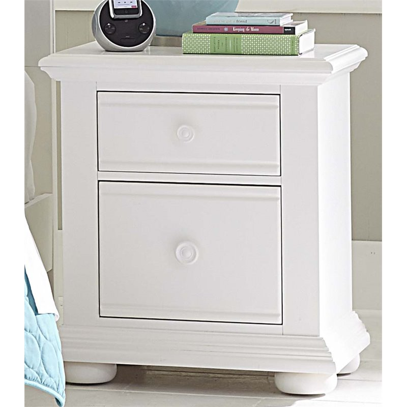 Liberty Furniture Summer House 2 Drawer Nightstand In Oyster White