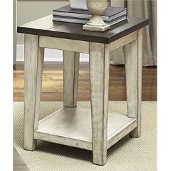 Liberty Furniture Lancaster Side Table in Weathered Bark