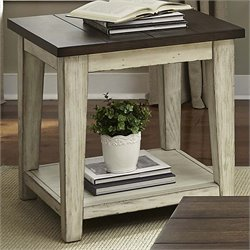 Liberty Furniture Lancaster End Table in Weathered Bark