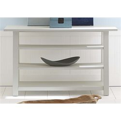 Liberty Furniture Summer House Console Table in Oyster White