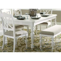 Liberty Furniture Summer House I Dining Table in Oyster White