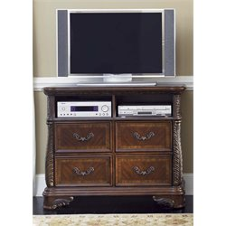 Liberty Furniture Highland Court 4 Drawer Media Chest in Rich Cognac