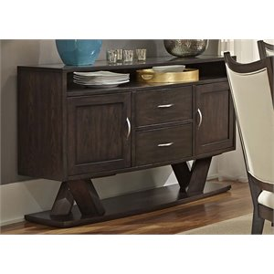 Liberty Furniture Southpark Server in Charcoal