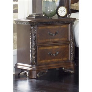 Liberty Furniture Highland Court 2 Drawer Nightstand in Rich Cognac