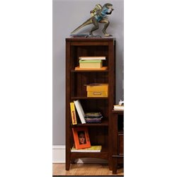 Liberty Furniture Chelsea Square 4 Shelf Student Bookcase in Tobacco