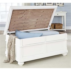Liberty Furniture Harbor View Storage Trunk in Linen
