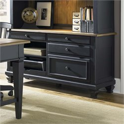 Bungalow II Computer Credenza in Driftwood and Black
