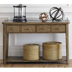 Liberty Furniture Weatherford Console Table in Brownstone Caramel