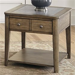 Liberty Furniture Weatherford End Table in Brownstone Caramel