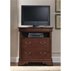 Liberty Furniture Carriage Court Media Chest in Mahogany Stain