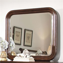 Carriage Court Mirror in Mahogany Stain