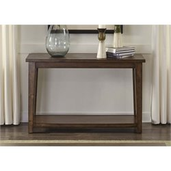Liberty Furniture Lancaster II Console Table in Antique Brown
