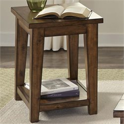 Liberty Furniture Lancaster II Side Table in Antique Brown