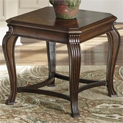 Liberty Furniture Ellington End Table in Distressed Cherry