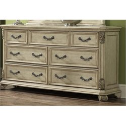 Messina Estates 7 Drawer Dresser in Antique Ivory