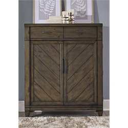 Liberty Furniture Modern Country 2 Drawer Door Chest in Harvest Brown
