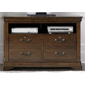 Liberty Furniture Chateau Valley 2 Drawer Media File Cabinet in Cherry