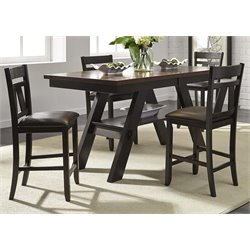 Liberty Furniture Lawson Counter Height Dining Table in Espresso
