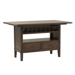 Liberty Furniture Cabin Fever Counter Height Dining Table in Brown