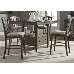 Liberty Furniture Candlewood Counter Height Dining Table in Gray