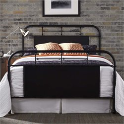 Vintage Metal Bed in Distressed Black