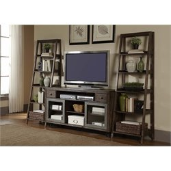 Liberty Furniture Avignon 3 Piece Entertainment Center in Rustic Brown