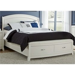 Avalon II Storage Panel Bed in White Truffle
