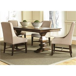 Liberty Furniture Armand Trestle Dining Table in Antique Brownstone
