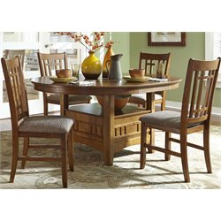 Liberty Furniture Santa Rosa 5 Piece Dining Set in Mission Oak