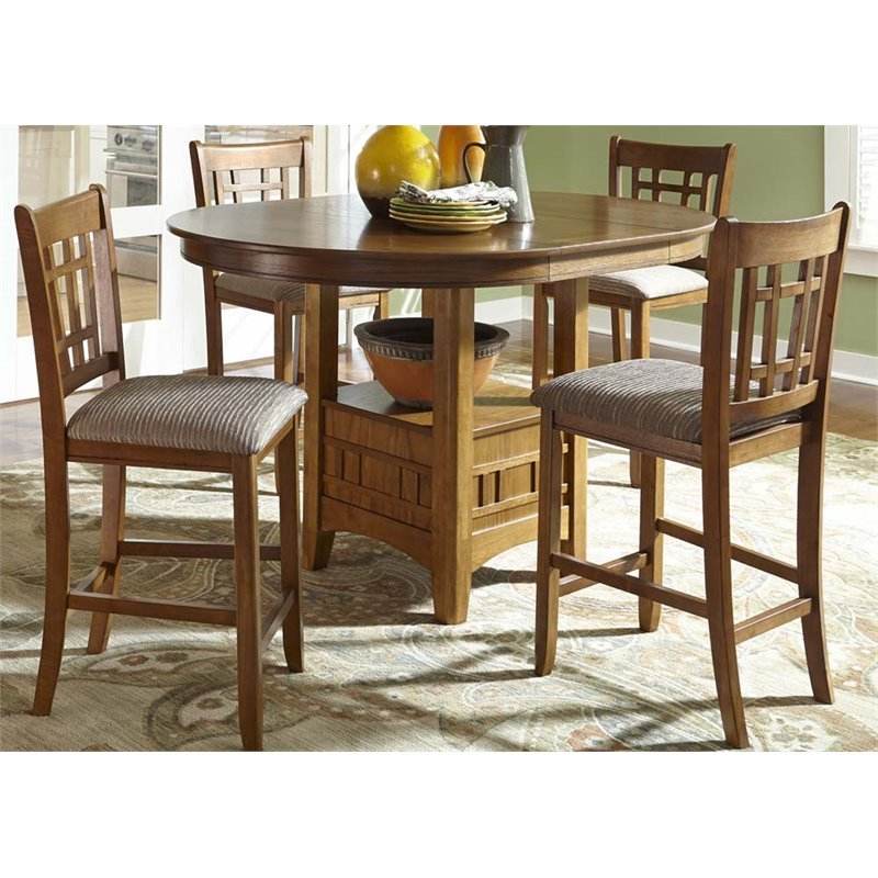 Liberty Furniture Santa Rosa 5 Piece Counter Height Dining Set In