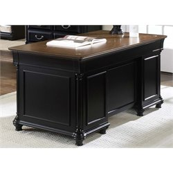 Liberty Furniture St. Ives Executive Desk in Chocolate and Cherry