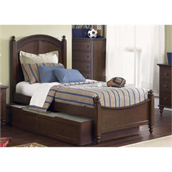 Abbott Ridge Panel Bed in Cinnamon