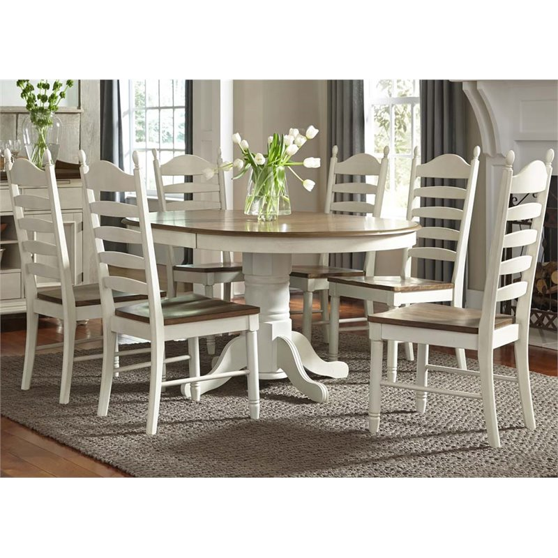 Charmant Liberty Furniture Springfield 7 Piece Pedestal Dining Set In Cream