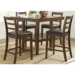 Liberty Furniture Bradshaw 5 Piece Counter Height Dining Set in Russet