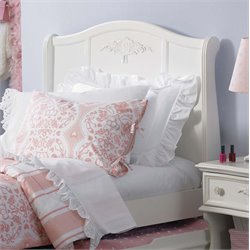 Arielle Sleigh Headboard in Antique White