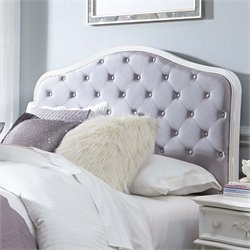 Arielle Upholtered Panel Headboard in Antique White