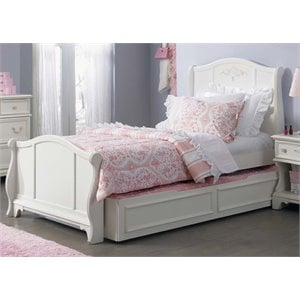 Arielle Sleigh Bed in Antique White