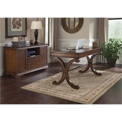 Liberty Furniture Brookview 2 Piece Home Office Set in Rustic Cherry