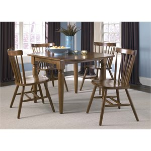 Liberty Furniture Creations II 5 Piece Drop Leaf Dining Set in Tobacco