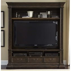 Mendenhall I TV Stand in Rustic Brown