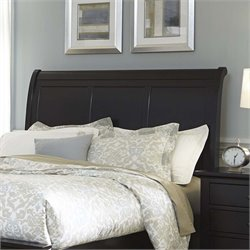 Hamilton III Sleigh Headboard in Black