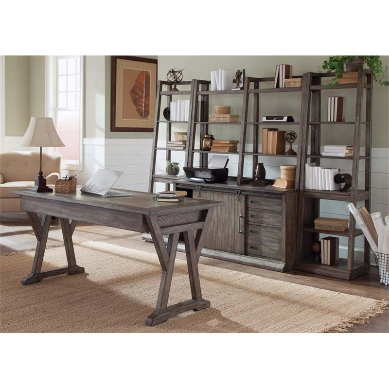 Awesome Liberty Furniture Stone Brook 5 Piece Home Office Set In Rustic Saddle