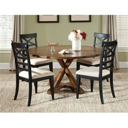 Liberty Furniture Hearthstone 5 Piece Pedestal Dining Set in Oak