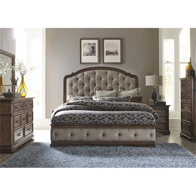 Amazing Upholstered King Bedroom Set Decoration